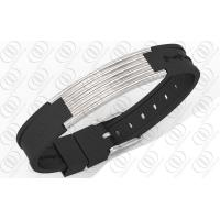 Therapy Stainless Steel Bracelets In Silver Ribbed Line Design Manufactures