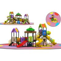 Witch's House Childrens Outdoor Slide Playground Equipment Multicolored Slide Set Manufactures