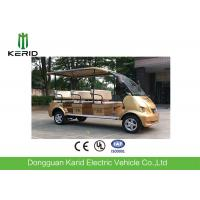 Gold 4Kw Eight Passenger Electric Shuttle Bus Designed For Tourist Attractions Manufactures