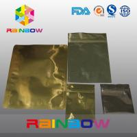 Gold Aluminum Foil Anti Static Bag Zipper Pouch Packing For Electronic Products Manufactures