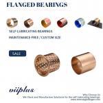 Wrapped Bronze Sleeve Bushings , Bronze Flange Bearing Size & Standard Tolerance Manufactures
