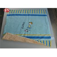 China Animal Embroidery Micro Mink Quilted Throw for Baby Microfiber Autumn Winter Home Unisex on sale