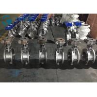 Metal Seated Butterfly Valve High Performance Double Flange End Triple Eccentric Worm Gear Manufactures