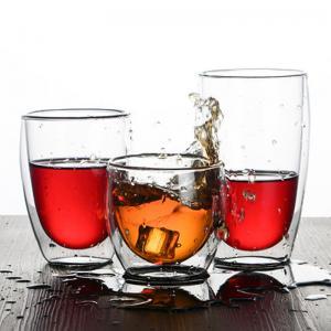China Handblown Pyrex Heat Resistant Borosilicate 450ml Double Wall Glass Coffee Cup Coffee Mug on sale
