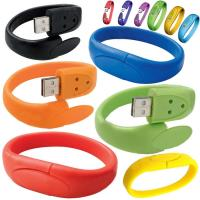 High Capacity 16GB USB 2.0 Flash Drive Customize Silicone Bracelets Manufactures