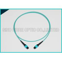 China 3.0mm 100Gbps 24F MPO MTP Mating Fiber Optical Multimode OM3 Trunk Method B Patch Cable on sale