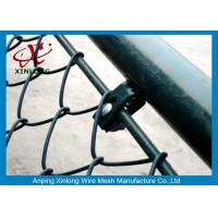 China Link Fence Stable China Link Mesh Electric Galvanized And PVC Coated Dark Green on sale