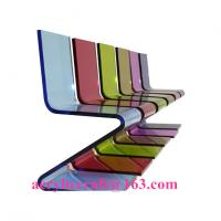 Quality Hot sale elegant colored acrylic furniture Z Shape acrylic chair for sale