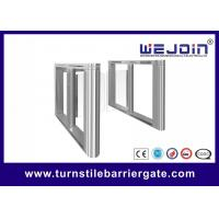 Bi - Direction Entrance Swing Barrier Gate Full Automatic Glass Door For Office Manufactures
