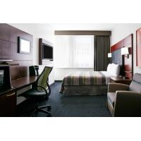 Hotel Bedroom Furniture Mahogany wood headboard Bed and Fixed Millwork TV Wall Panel with Reading desk Manufactures