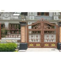Architectural Steel Cast Iron Gates / Customized Metal Fence Door Manufactures