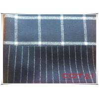 Navy Midnight Blue Tartan Double Faced Wool Coating Fabric 70 Wool 30 Polyester Manufactures