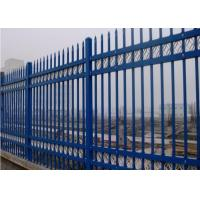 China Steel Security Fencing System Black Powder Coated Garrison Security Panels 1800 mm, 2100 mm on sale
