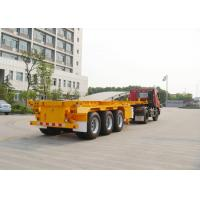 Three axles 40ton skeleton semi trailer for container shipping , flat bed trailors Manufactures