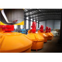 China High Chrome Alloy Refractory Pan Mixer , Casting Coatings Hydraulic Concrete Mixer on sale
