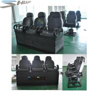 Newest 3 DOF Pneumatic / Hydraulic Black Motion Theater Chair With Dustproof Plastic Cover Manufactures