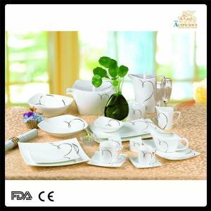 China royal bone china square dinnerware set on sale