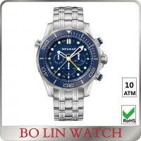Buy cheap 10atm Quartz Waterproof Watches For Men , Stainless Steel Mens Watches from wholesalers