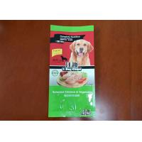 Color printing side can unfold the top of pet food packaging bag can add repeated zipper Manufactures