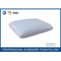 China Classic Memory Foam Cooling Gel Pillow with Light Blue Cool Pillow Case on sale