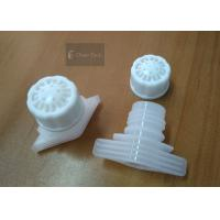 China White Food Grade Twist Spout Cap For Plastic Bag , 52mm Heat Seal Size on sale