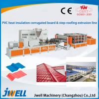 Jwell PVC Heat Insulation corrugated board & step-roofing extrusion line Manufactures