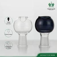 Oil Rig Bong Glass Bubbler Bowl / Glass Bongs Accessories 5 Mm Thickness Manufactures