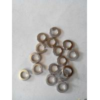 White / Yellow Zinc Split Lock Washer , Belleville Disc Spring Washer Carbon Steel Manufactures