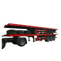China Flatbe  Container Transport Trailer Chassis 40 ton ,60ton, on sale