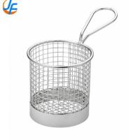 Quality Durable Stainless Steel Fry Basket , Mesh Deep Fat Fryer French Fries Holder for sale