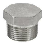 1 1/2 inch Hex Head Plug, MPT Thread, Carbon Steel ASTM A105N. Manufactures