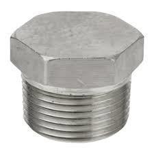 Hex Head Plug  NPT Thread Male   Stainless Steel ASTM A182 F304