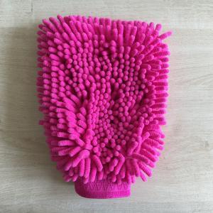 House keeping  washing absorb mitt 100% polyester microfiber mitt gloves Manufactures