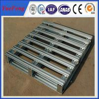 Metal aluminum pallet, 3 Runner Bolted Aluminum Pallet with Recyclable affordable Manufactures