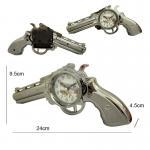 Plastic Revolver Gun Shape Alarm Clock Manufactures