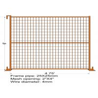 "6FT X 4.75FT ""Quebec French Land"" TEMPORARY FENCE Mesh3""x6' Diameter 4.00mm Zinc Coated And Power Coated Dupont Manufactures"