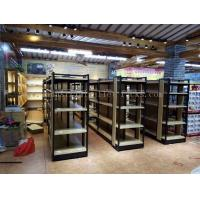 Supermarket Industrial Pallet Racks Metal / Wood Display Shelving Double Sided Manufactures