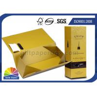Handmade Folding Cardboard Wine Packaging Box Rigid Gift Presentation Box Manufactures