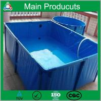 China New design products portable flexible cube structure tropical fish tank for farming on sale