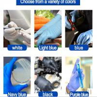 AQL 1.0 Nitrile Gloves Texfured finger for medical use 3.0g/3.5g/4.0g/4.5g/5.0g blue, white, black, purple Manufactures
