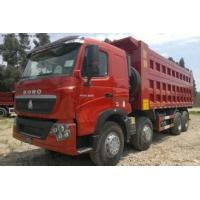 CNHTChowo DUMP TRUCK Manual Transmission Type and Diesel Fuel Type 8X4 red color Manufactures