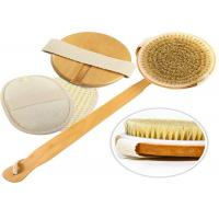 Detachable Exfoliating Body Natural Bristle Scrub Brush Durable Eco Friendly Manufactures