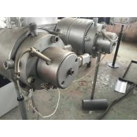 China Dual Heads PVC Conduit Pipe Extrusion Machine Line with PLC controlls on sale