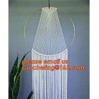 Macrame Wall Art Hanging Tapestry Wedding Decoration with Lace Fabrics, MACRAME CUSHION COVER, MACRAME HAND BAND Manufactures