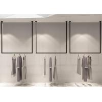 Pensile Style Clothing Display Rack , Retail Store Fixtures Iron Baking Material Manufactures