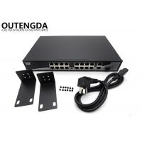 Rack Mount 16 Port POE Ethernet Switch 802.3 AF POE Ports with SFP Optical Module Manufactures