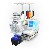 Quality Commercial Single Head Computer Embroidery Machine For Cap / T - Shirt / Flat for sale