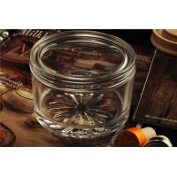 Personalised Empty Clear Glass Candle Jars With Lids , ASTM Test Manufactures