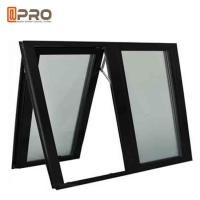 Black Color Aluminium Awning Windows With Chain Winder And Keys For Bathroom Manufactures