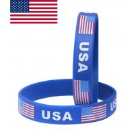 China Promotional cheap custom silicone wristband ,cheap custom silicone bracelets,country flag bracelet on sale